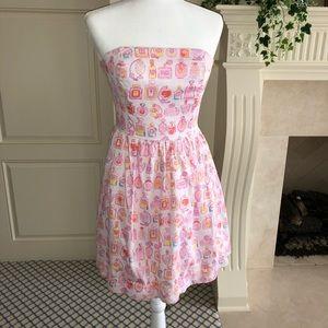 Lilly Pulitzer Strapless Dress Spritz Print